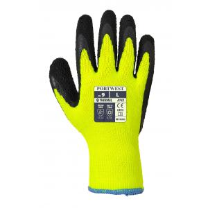 Portwest A143 thermische soft grip latex handschoen